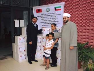 Ambasada e Kuvajtit në ndihmë të njerëzve në nevojë