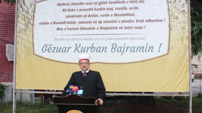 Mesazhi i Myftinisë Shkodër me rastin e Kurban Bajramit - 1437/2016