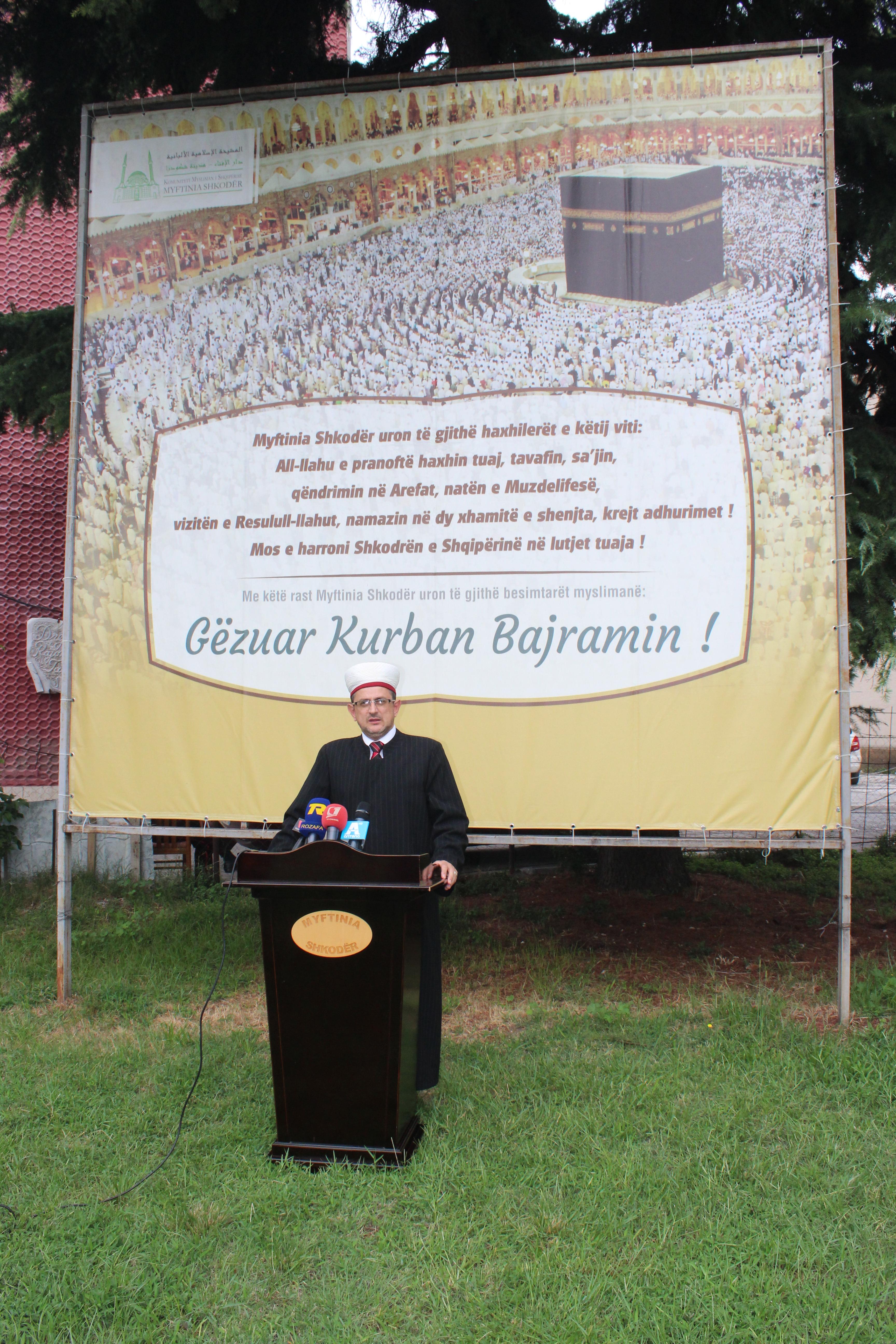Mesazhi i Myftinisë Shkodër me rastin e Kurban Bajramit – 1437/2016