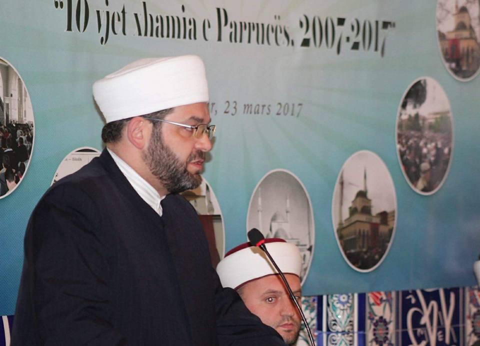 U përkujtua 10 vjetori i xhamisë së re të Parrucës