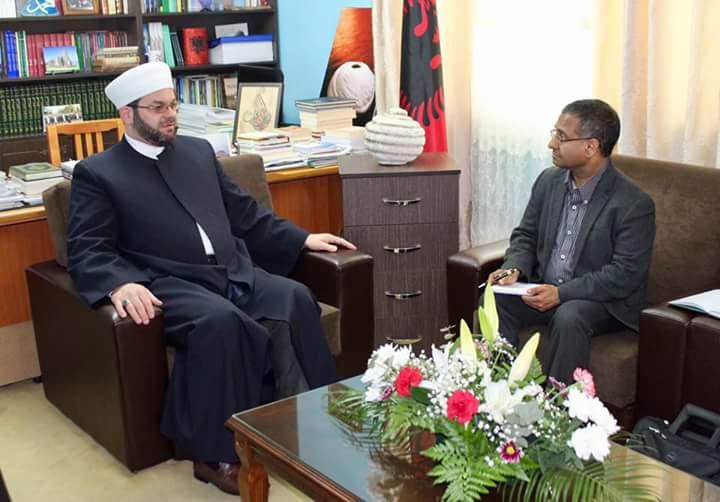 Myftiu priti Raportuesin e Posaçëm për Lirinë e Fesë dhe Besimit pranë OKB