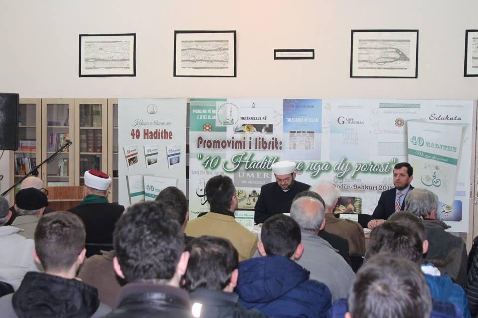 """Promovohet libri: """"40 Hadithe me nga dy porosi"""", i teologut Lavdrim Hamja"""
