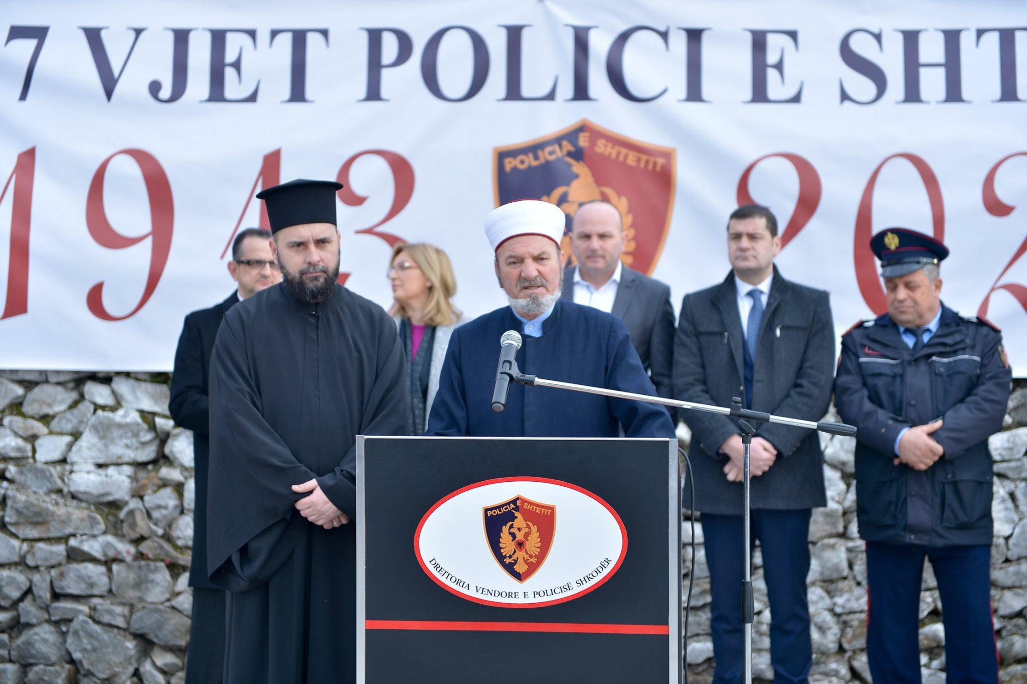 Myftinia Shkodër merr pjesë në ceremoninë e 107 vjetorit të krijimit të Policisë së Shtetit Shqiptar